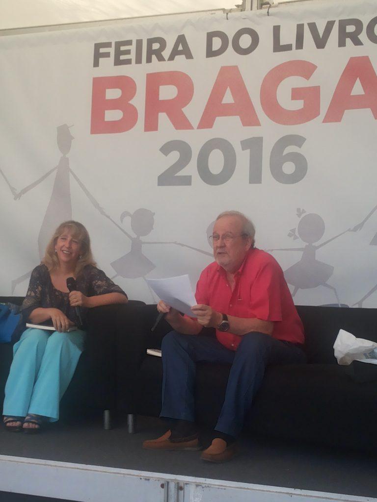 Inês Pedrosa e Jorge Cruz na Feira do Livro de Braga